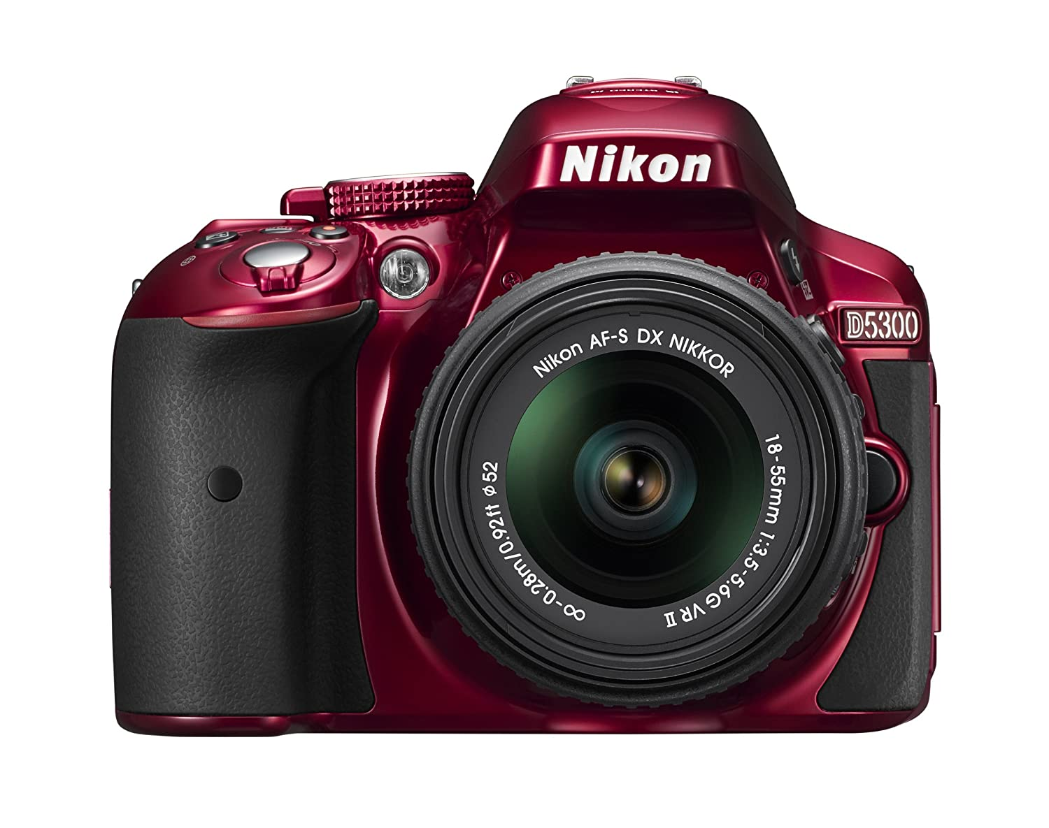 Nikon D5300 24.2 MP CMOS Digital SLR Camera with 18-55mm f/3.5-5.6G ED VR II Auto Focus-S DX NIKKOR Zoom Lens (Red)