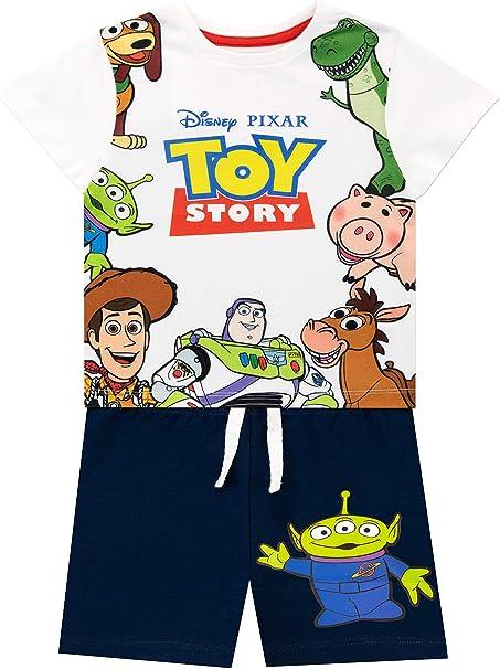 Disney Camiseta Conjunto de Top y Shorts para niños Toy Story: Amazon.es: Ropa y accesorios