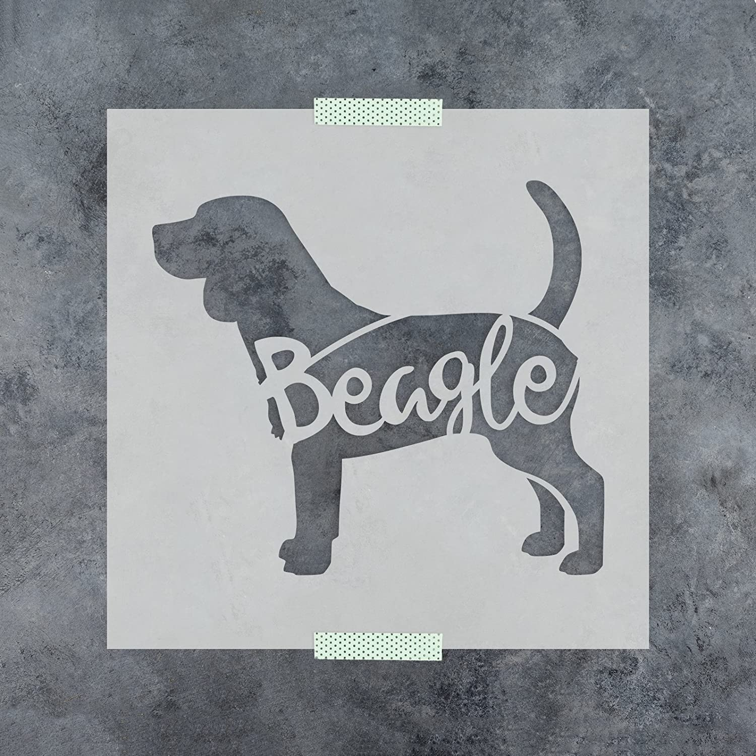 Beagle Stencil Template for Walls and Crafts Reusable Stencils for Painting in Small /& Large Sizes