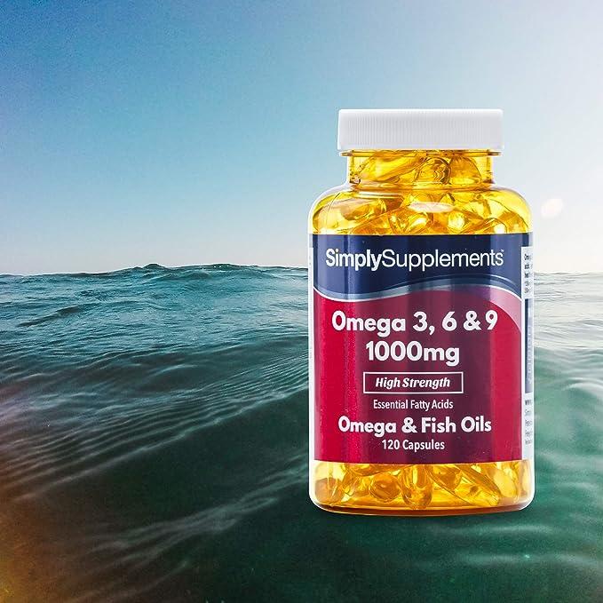 Omega 3-6-9 1000mg - 240 cápsulas - Hasta 8 meses de suministro - Para la salud del corazón, del cerebro y de la vista - SimplySupplements: Amazon.es: Salud ...
