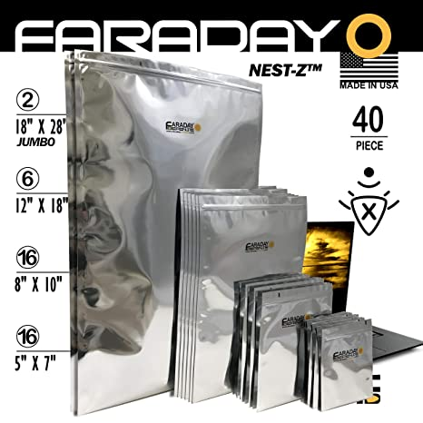 Jaula de Faraday Emp/ESD bolsas 40pieza 2-metal capa, fully ...