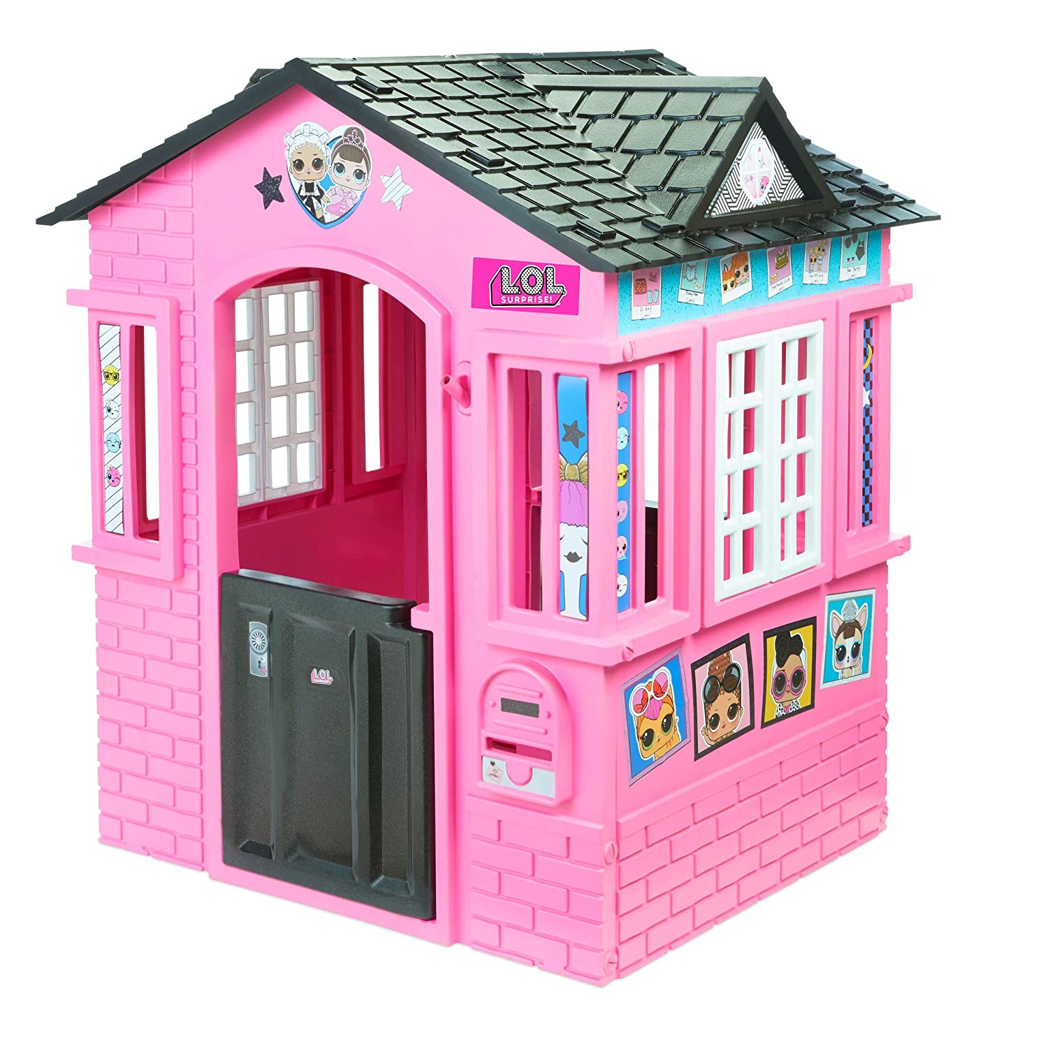 c0b681ad882e1 Amazon.com  L.O.L. Surprise! Indoor   Outdoor Cottage Playhouse with ...