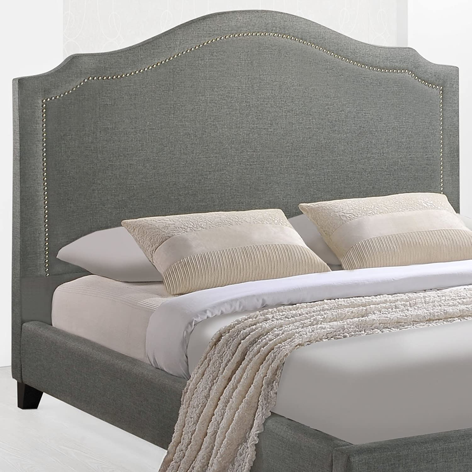 Amazon.com: Modway Charlotte Upholstered Fabric Queen Bed With ...