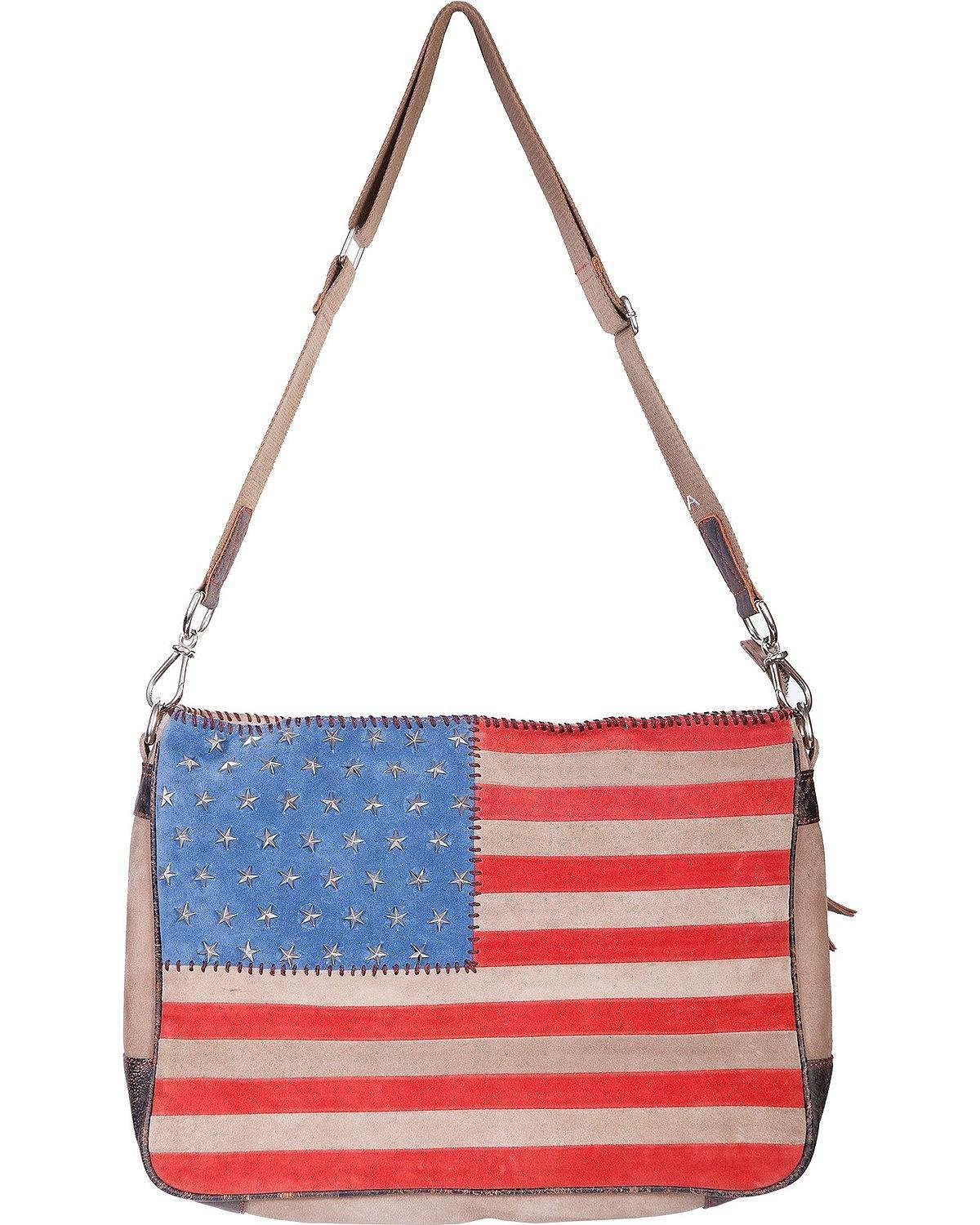Scully Women's Studded Patriotic Crossbody Bag Patriotic One Size