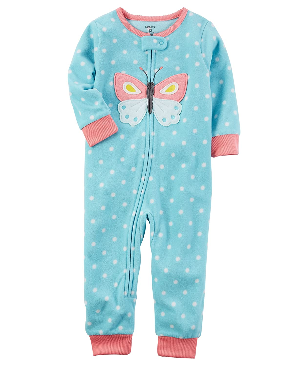 Carter's Girls' 1-Piece Footless Fleece PJs