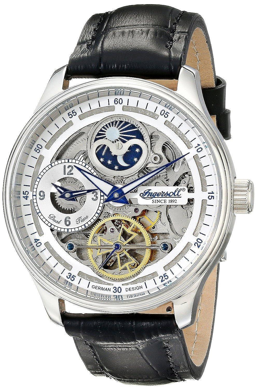[インガソール]Ingersoll 腕時計 Boonville Stainless Steel Watch with Black Leather Band IN2705WH メンズ [並行輸入品] B016E4N3BS