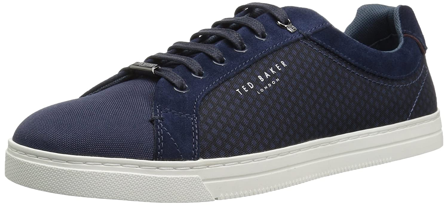 5d1d2511f Leather and Textile Imported Synthetic sole. Shaft measures approximately  low-top from arch. Classic derby cupsole trainer in Suede and textile  combinations