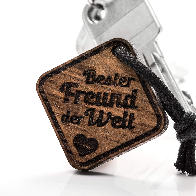 treeforce Freund Schl/üsselanh/änger Halskette oder Auto Anh/änger 3in1 DIY Schmuck aus Kupfereiche