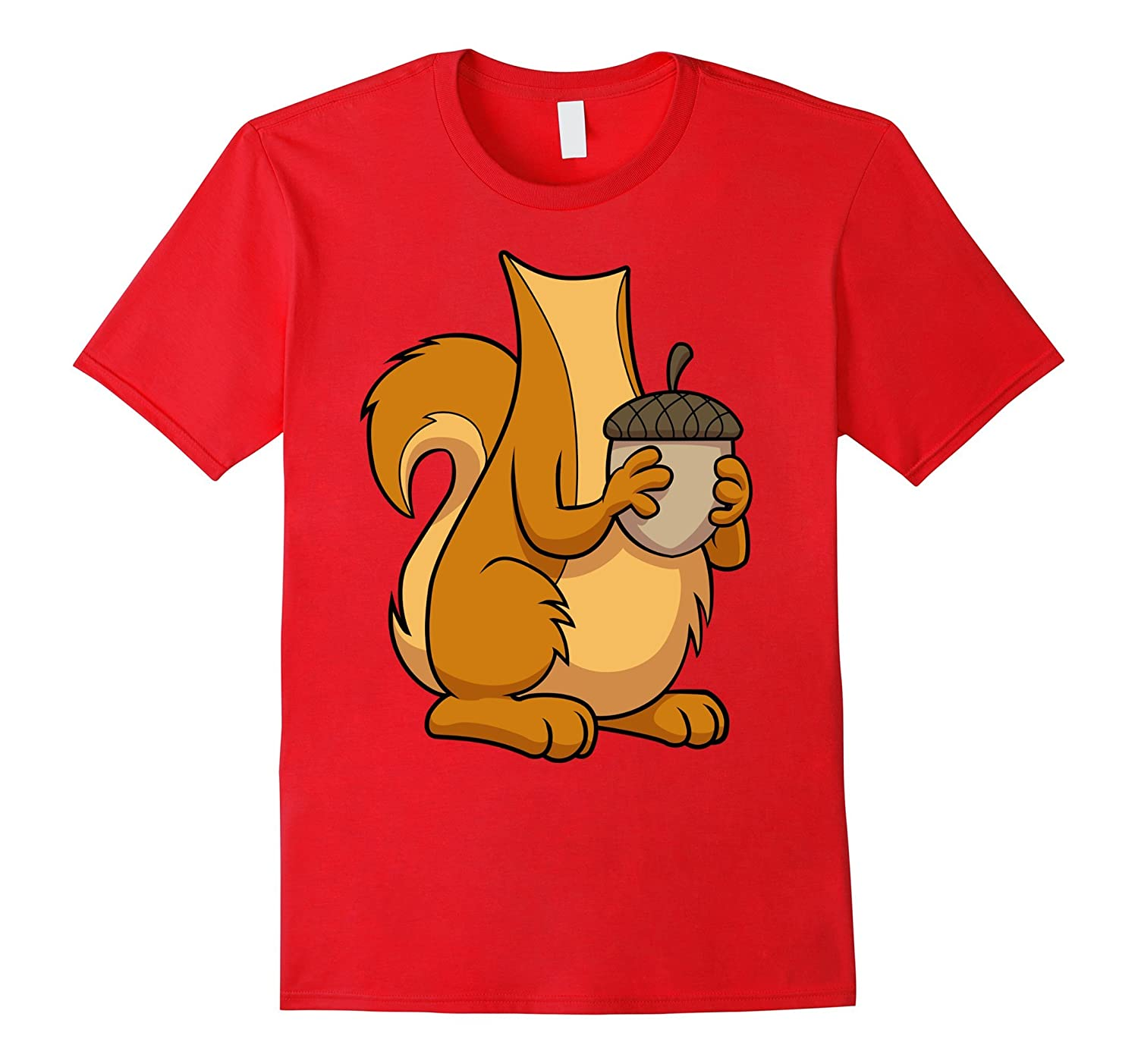 Squirrel Costume T-Shirt for Halloween Squirrel Animal Tee-FL