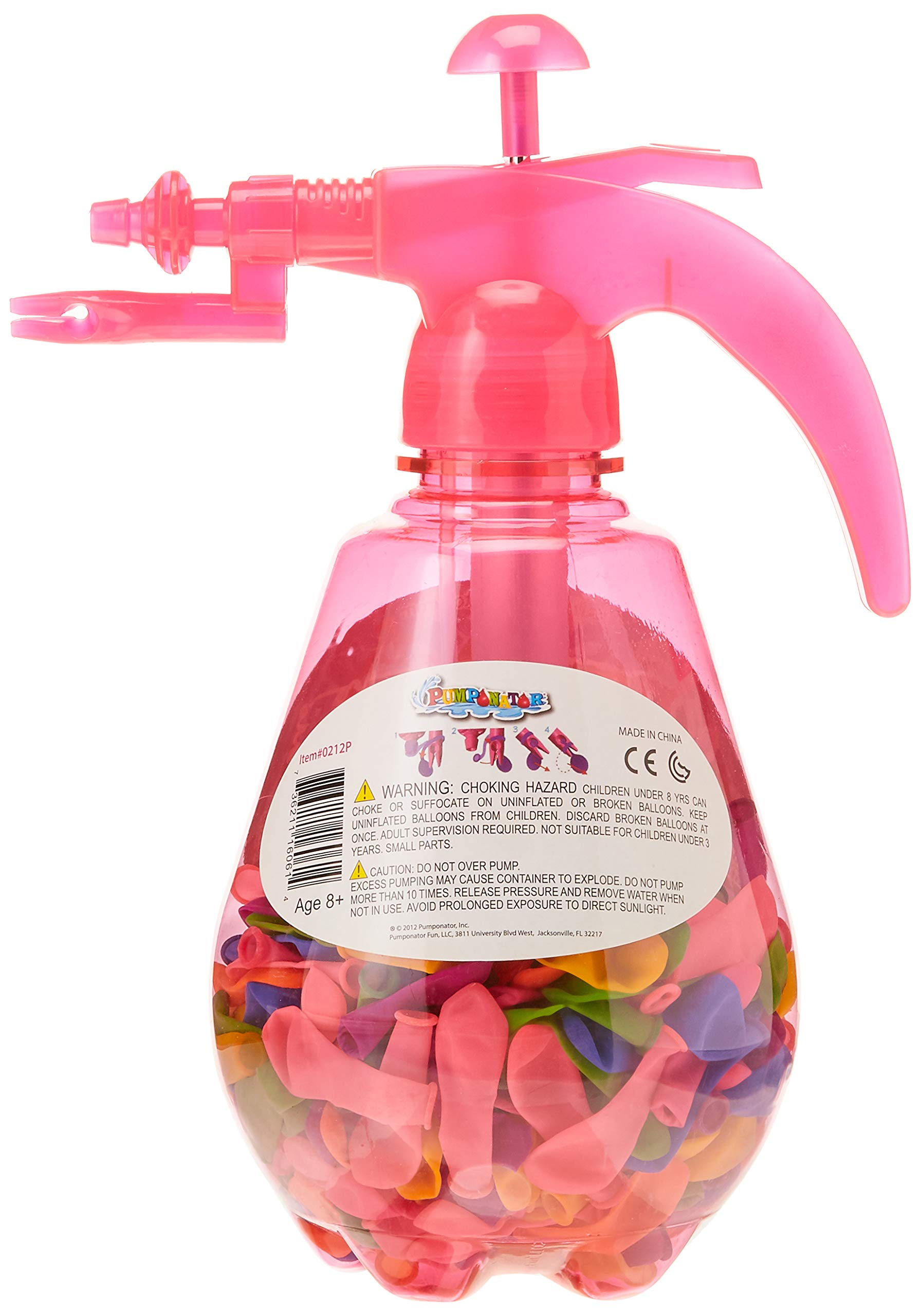 Pumponator Water Balloon Pump (Pink) and Tube o' Balloons Gift Bundle Set by Pumponator (Image #2)