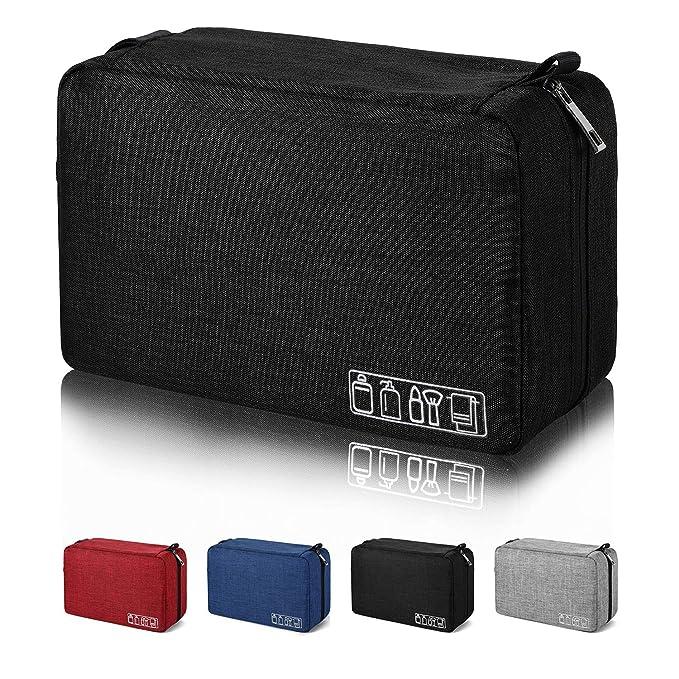 Amazon.com : Mens Toiletry Bag Hanging Travel Shaving Dopp Kit Waterproof Organizer Bag Perfect Travel Accessory Gift (Black) : Beauty