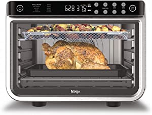 Ninja DT201 Foodi 10-in-1 XL Pro Air Fry Digital Countertop Convection Toaster Oven with Dehydrate and Reheat, 1800 Watts, Stainless Steel Finish (Renewed)