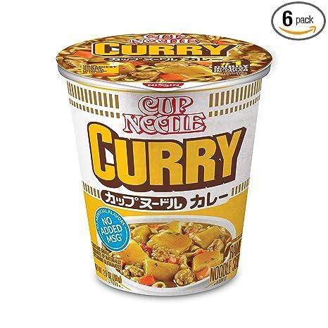 Nissin Cup Noodle Ramen Noodle Soup, Curry, 2.8 Ounce (Pack of 6)