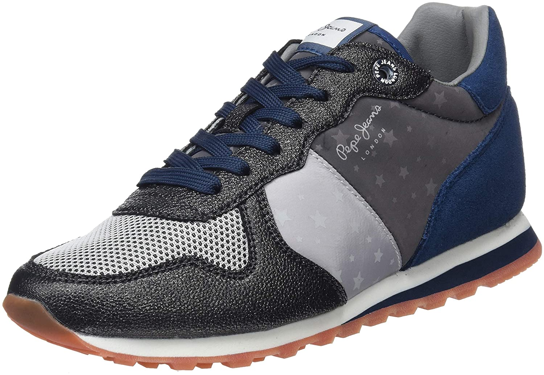 Pepe World Jeans Damen Verona W World Pepe Sneaker Silber (Silver 934) d7ae0c