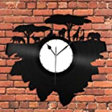VinylShopUS - Savannah Nature Vinyl Wall Clock