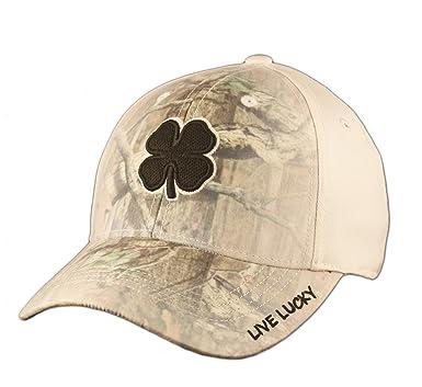 02ece2dd294e00 Black Clover Black/White/Camo Hunt Lucky #9 Premium Fitted Hat -S