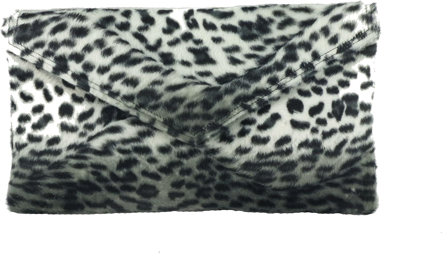 Neat Envelope Animal Print Clutch Bag//Shoulder Bag in Leopard Zebra or Cheetah