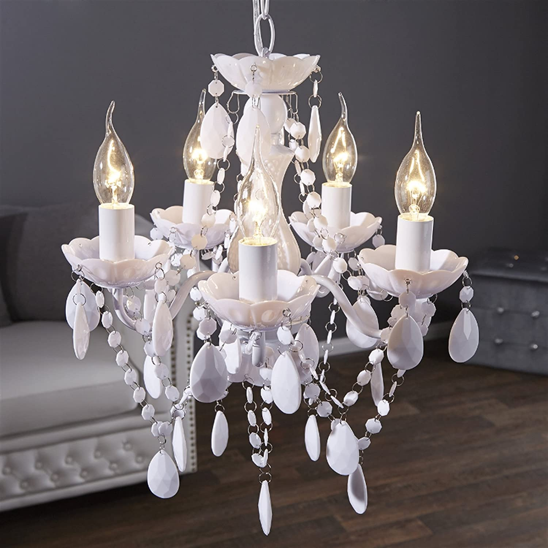 Lustre baroque blanc pas cher for Lustre baroque blanc