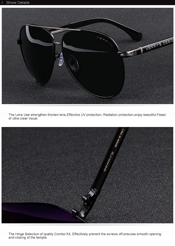 891fea84202 Amazon.com  MERRY S Design Men Sunglasses HD Polarized Luxury Shades UV400  S8728 (Black