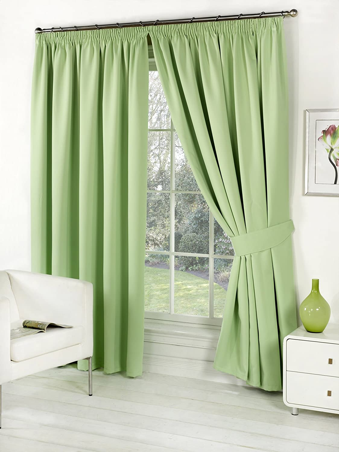 valance set with sage jacquard piece curtain luxury drapes amazon g curtains