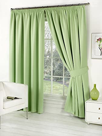 Green Curtains amazon green curtains : Pair of Sage Green 46