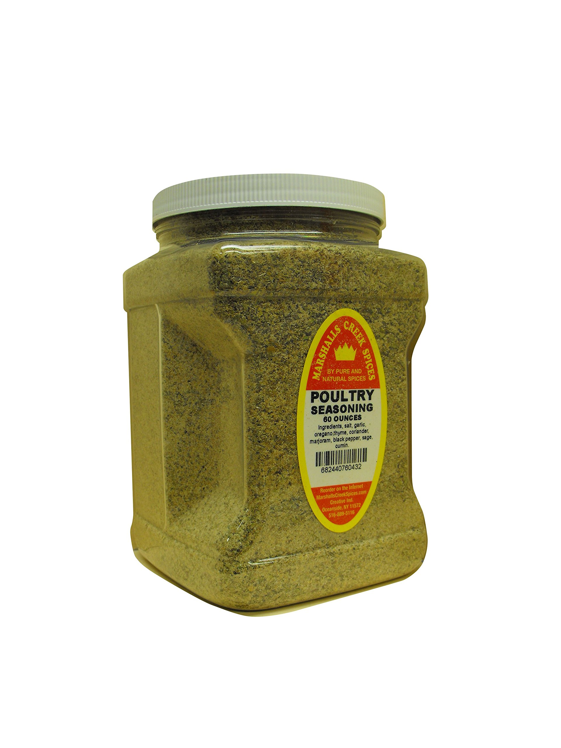 Family Size Marshalls Creek Spices Superb Fish And Poultry Seasoning, 60 Ounce