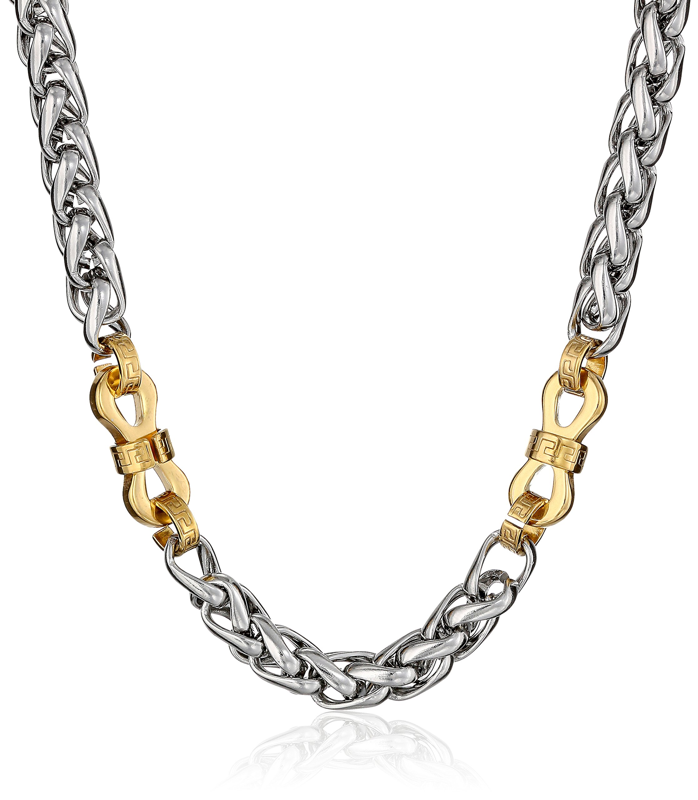 Cold Steel Men's Stainless Steel Yellow Immersion Plated Chain Necklace, 22''