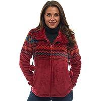 TrailCrest Ultra Soft Women's Full Zip Jacket, Plush Fleece with Velvety Silk Feel, Aztec/Ikat Fun and Trendy Prints 9…