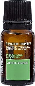 Elevation Terpenes 100% Alpha-Pinene Food Grade Terpene 10 Milliliters Produced in the USA