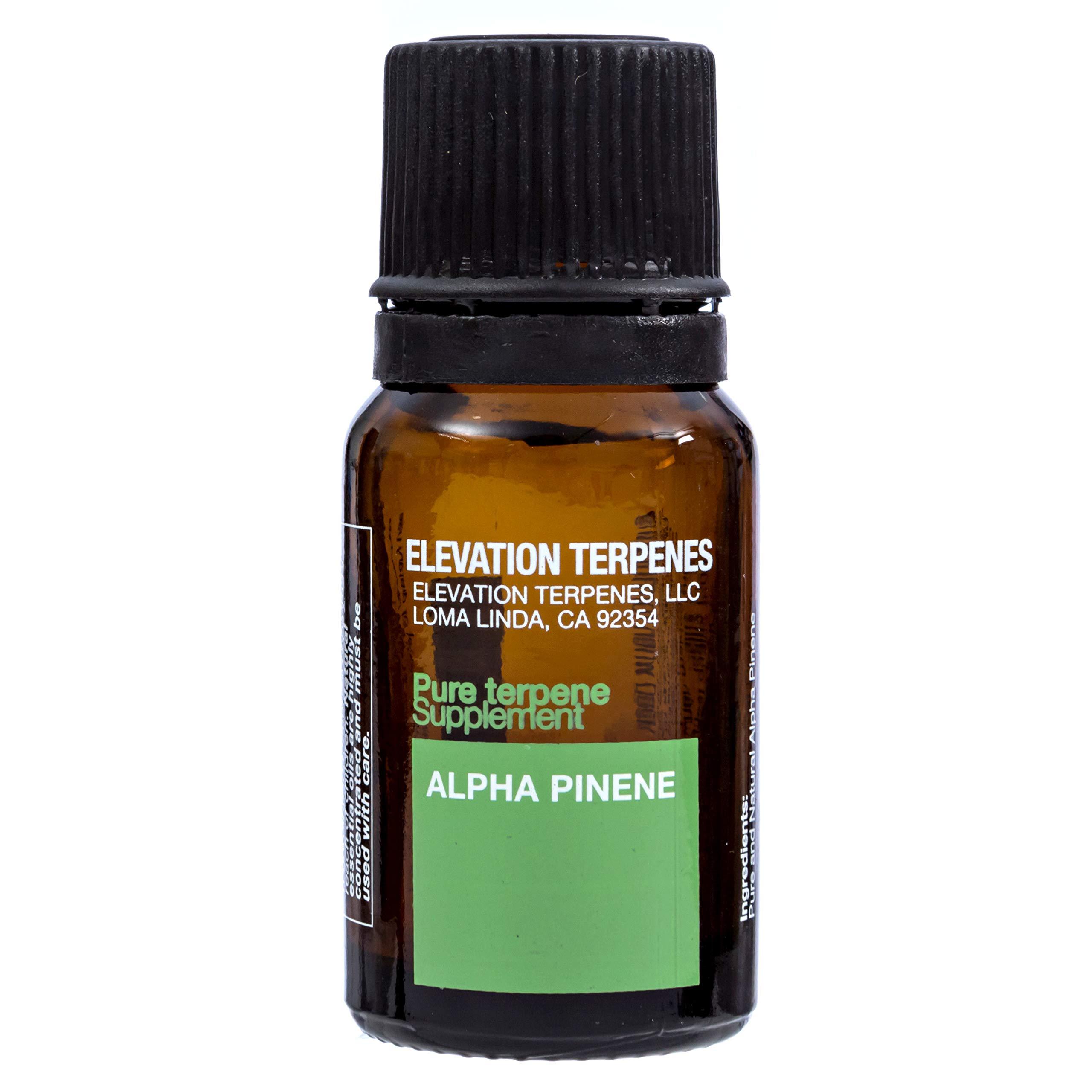 Elevation Terpenes 100% Alpha-Pinene Food Grade Terpene 10ML Produced in the USA by Elevation Terpenes