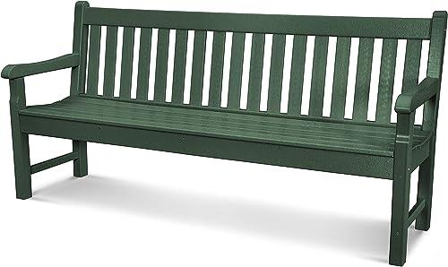 POLYWOOD Rockford 72-Inch Bench, Green