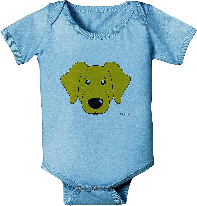 TooLoud Cute Black Labrador Retriever Dog Baby Romper Bodysuit
