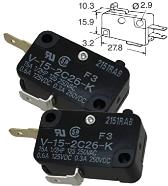 Snap Action Switches Subminiature Basic Switch 10 pieces Basic