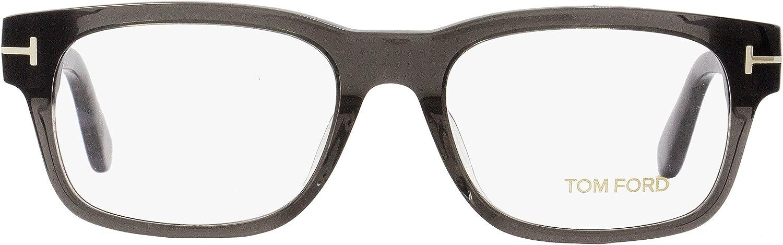 52mm Gray//Gray-Havana FT5432 Tom Ford Rectangular Eyeglasses TF5432F 020 Size