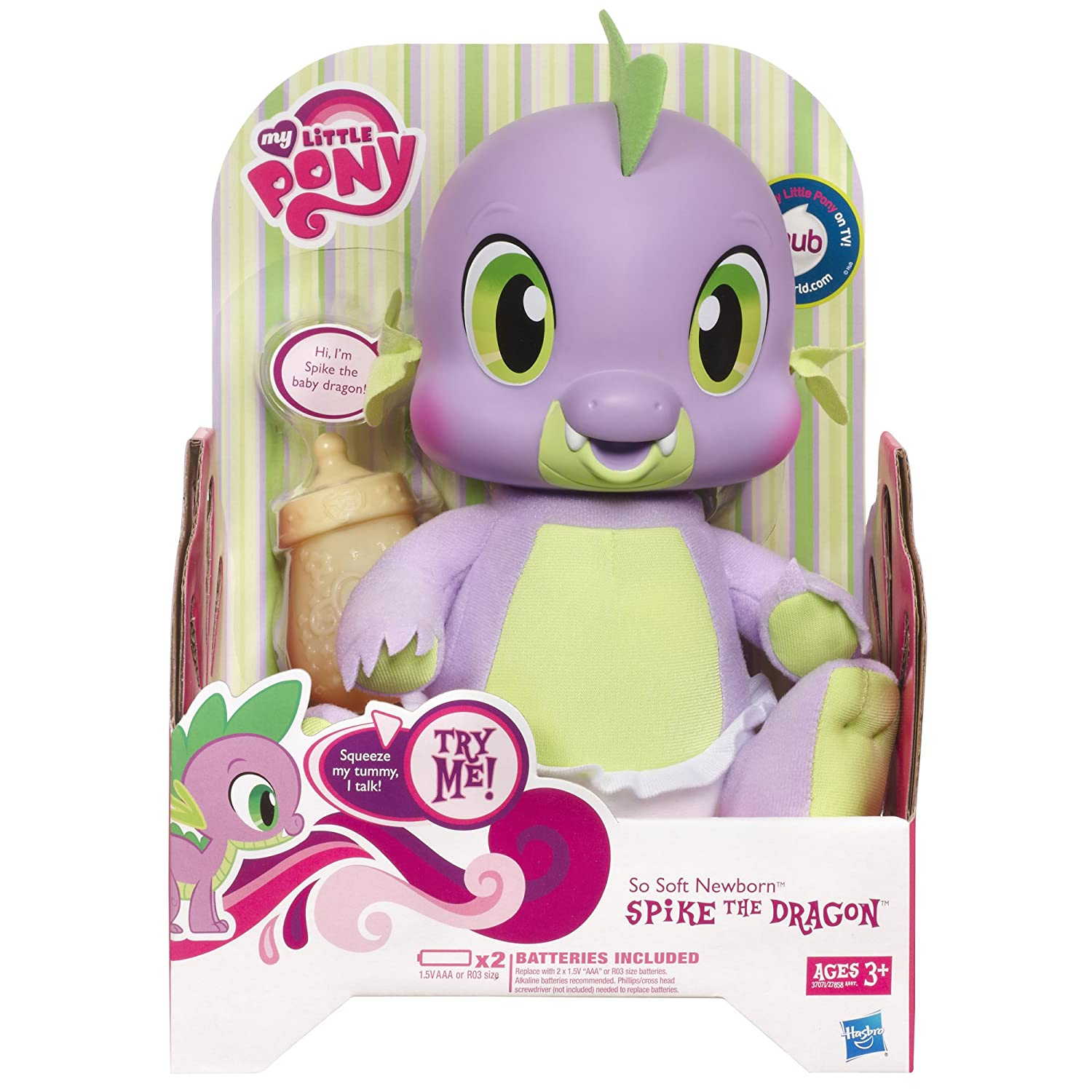 Amazon My Little Pony So Soft Newborn Spike the Dragon Toys