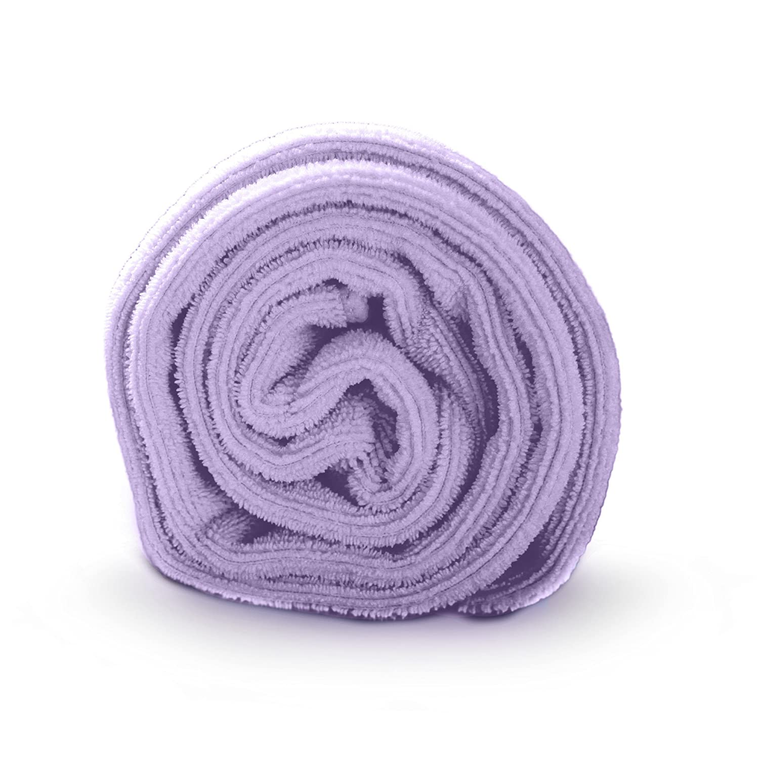 Luxe Beauty Essentials Microfiber Hair Towel for Drying Curly, Long & Thick Hair (20 x 40, Purple)