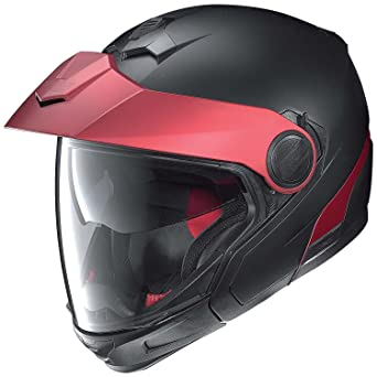 Nolan N40 Full Duetto Plus Modular Casco Moto Lexan N- Com – Negro Mate Rojo