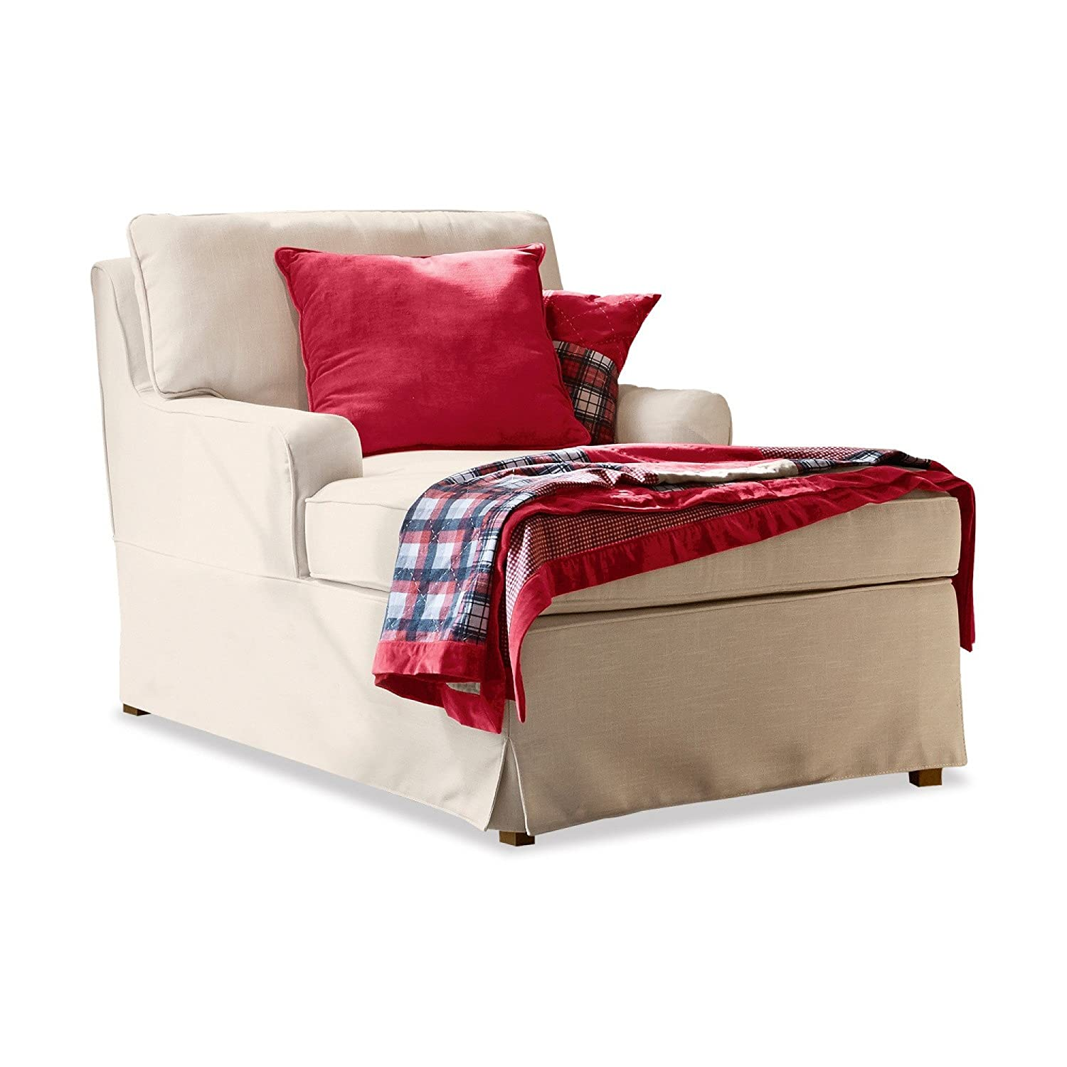 LOBERON Chaiselongue Myersville creme