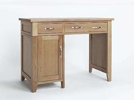 Scrivania In Legno Chiaro : Camberley oak ante e cassetto singolo piedistallo scrivania in