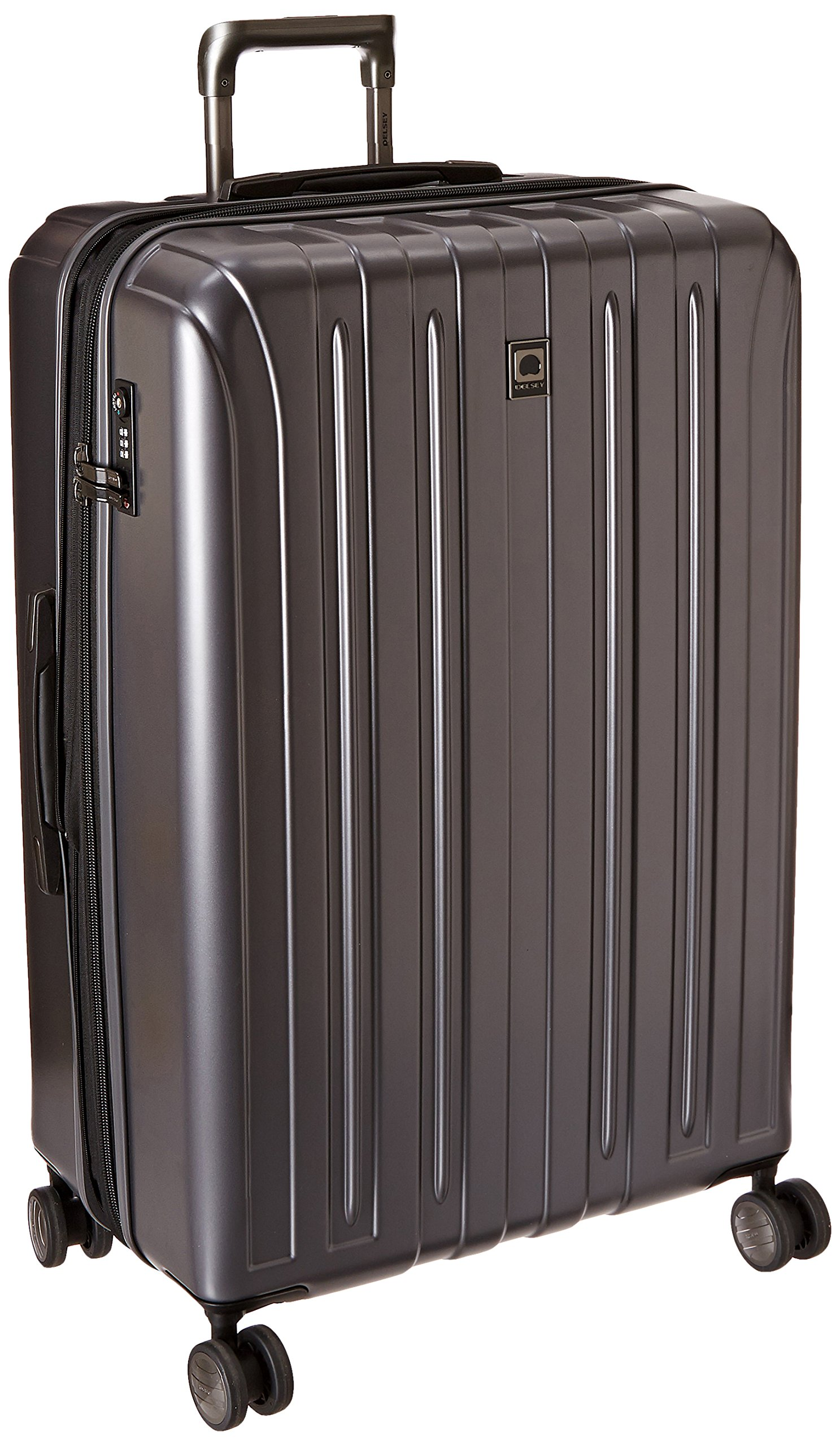 DELSEY Paris Luggage Helium Titanium 29'' Exp. Spinner Trolley Hard Case Suitcase, Graphite, One Size