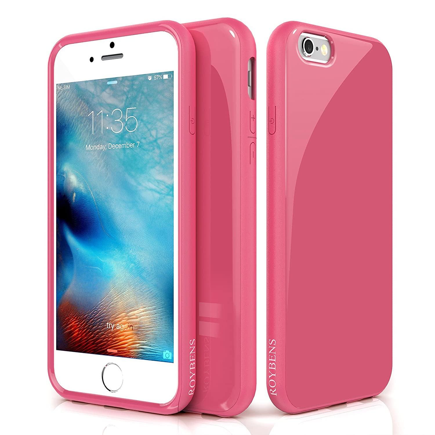 online store e525b 679e9 iPhone 6s Case, Drop Protection Silicone Slim Fit Armor, ROYBENS Dual Layer  Hard PC+ Soft TPU Protective Hybrid Design Shockproof Bumper Rubber Thin ...