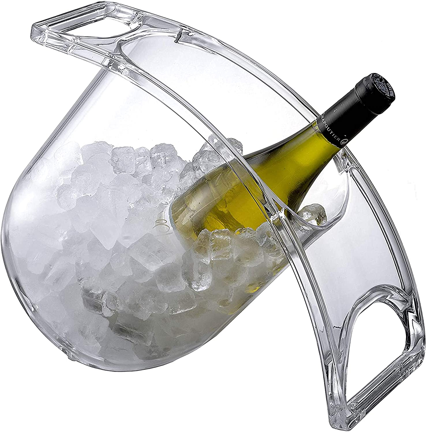 Coolin Curve Ice Bucket for Wine Champagne Beer Beverages Evenly Chills Drinks 2 Quarts