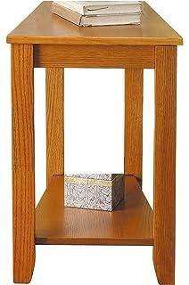 Homelegance 4728AK Chair Side Table, Oak Finish