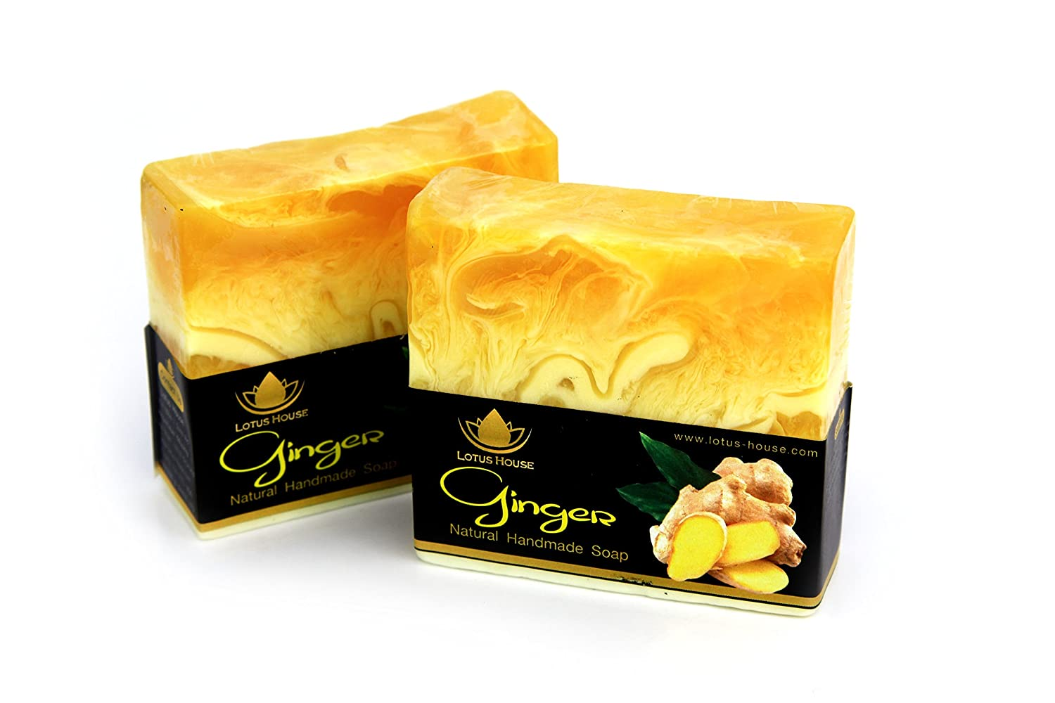 Lotus House Ginger Natural Handmade Soap (300g) / 3 Bars SA0100