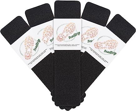 5 Perfiles protectores antideslizantes para peldaños de escalera, protectores autoadhesivos de seguridad para escaleras de 61 x 15,2 cm: Amazon.es: Bricolaje y herramientas