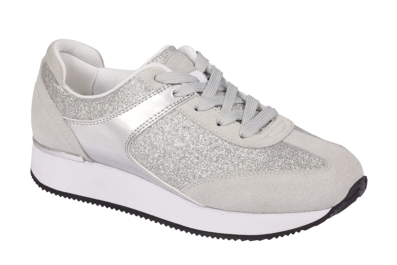 Scholl Damen Sneaker Sneaker Sneaker Silber - 28f0dd