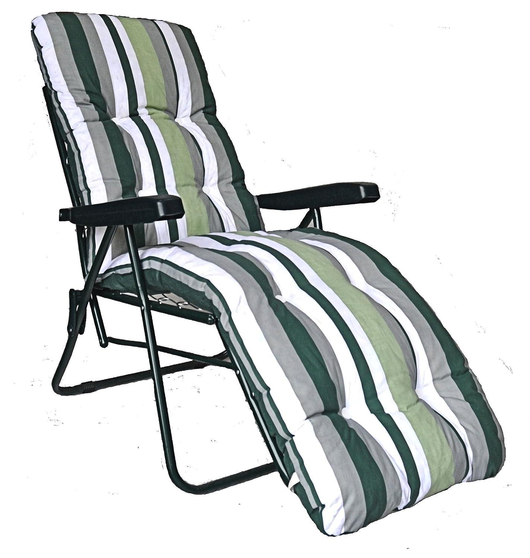 garden sun lounger multi position reclining relaxer chair with