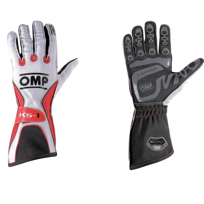 OMP OMPKK02741198XL (Stock dernier) Guantes KS-1 Negro/Blanco / Gris Talla XL, Noir/Blanc