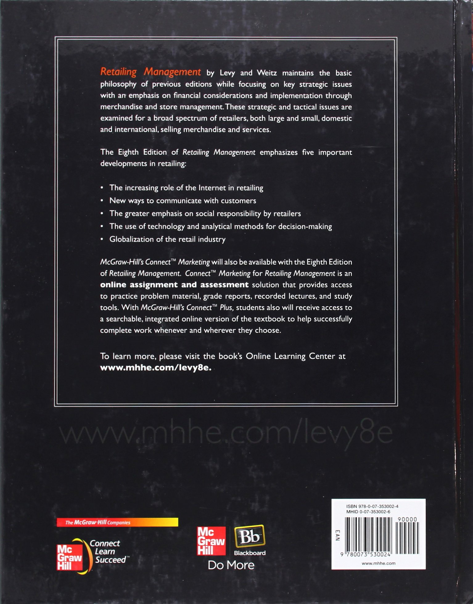 Retailing management amazon michael levy barton a weitz retailing management amazon michael levy barton a weitz 9780073530024 books fandeluxe Choice Image