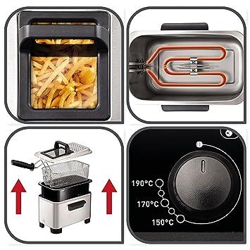Freidora de 3 litros de Capacidad - Deep Fat Fryer Zona fría - Filtro de seguridad: Amazon.es: Hogar